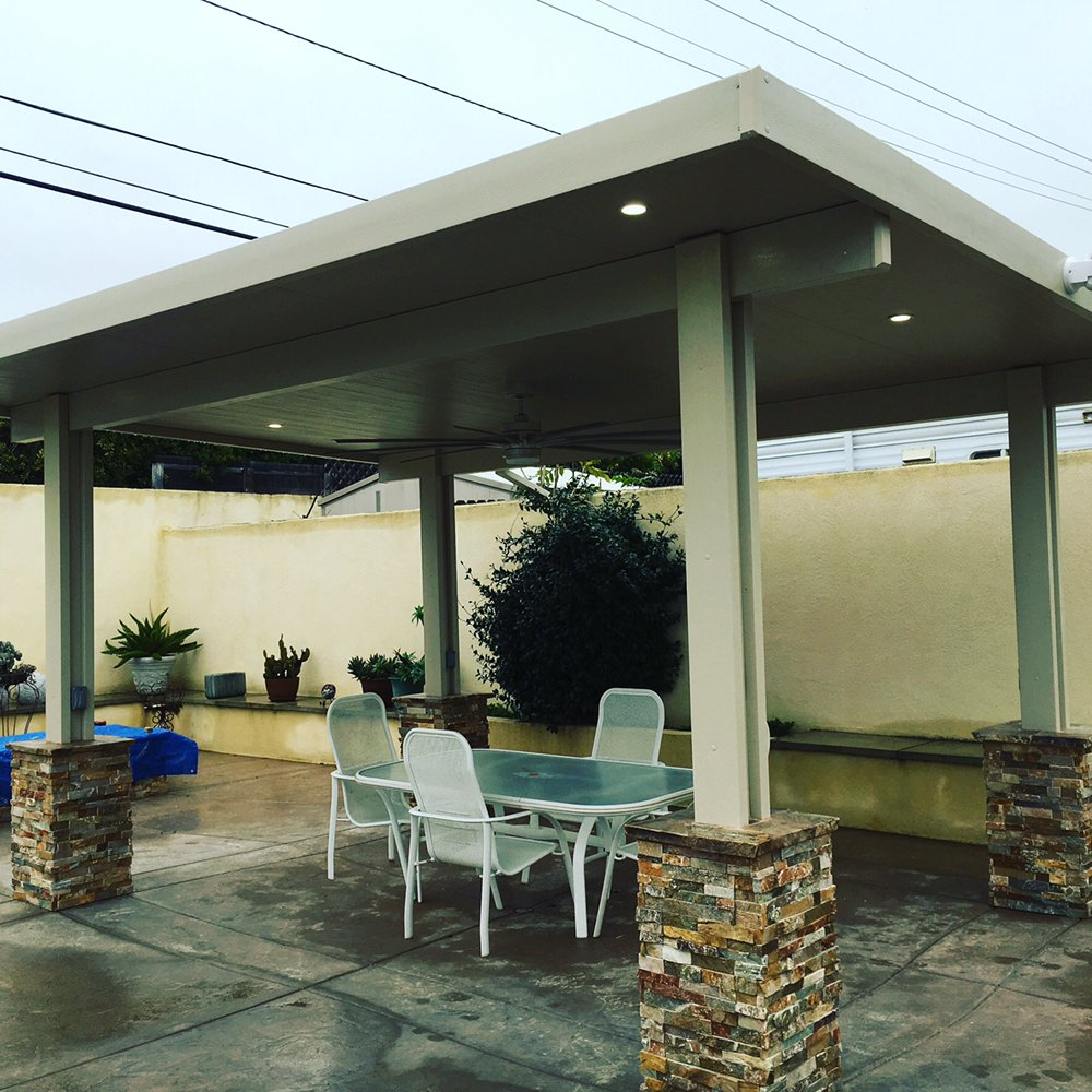 Photo Of J H Construction   Riverside, CA, United States. Freestanding  Solid Top Aluminum