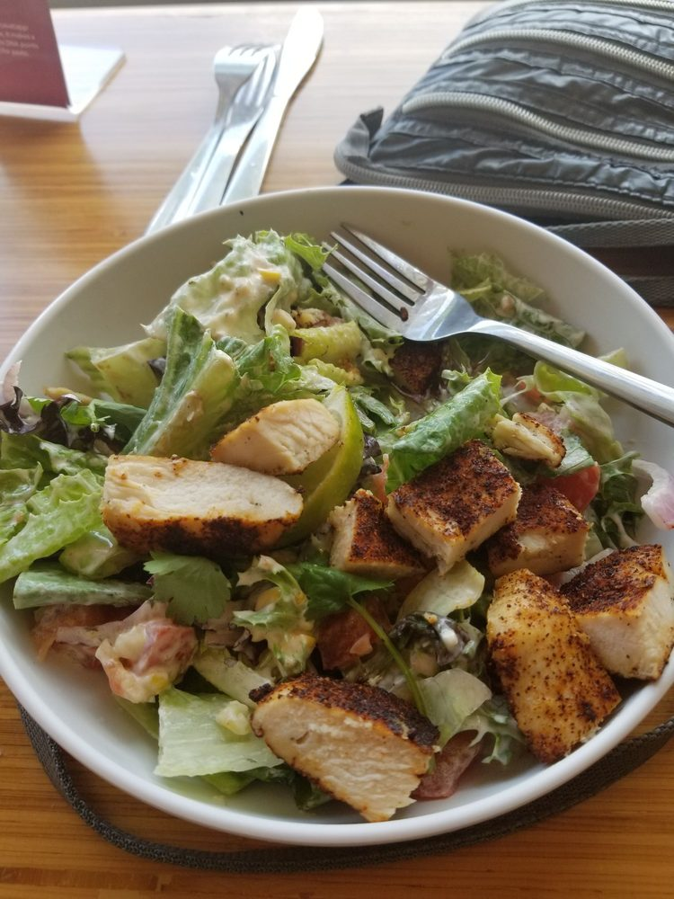 Chicken veracruz salad fancy name for seasoned chicken and