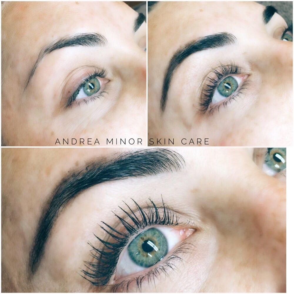 Lash Lift And Eyebrow Henna Before After No Mascara