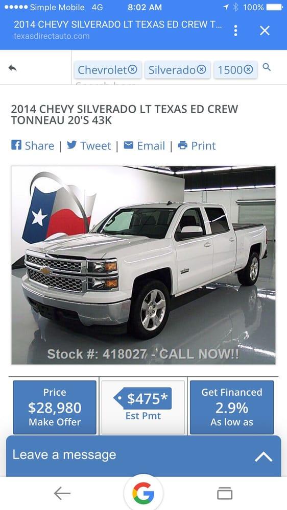 texas direct auto 75 photos 198 reviews car dealers 12053 southwest fwy stafford tx. Black Bedroom Furniture Sets. Home Design Ideas