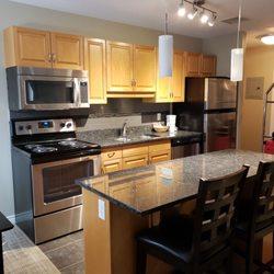 Photo Of Canterra Suites Hotel Edmonton Ab Canada Kitchen In 2 Bedroom