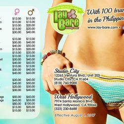Hollywood bikini wax price