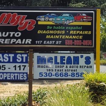 Mar auto repair motor mechanics repairers 117 east for Woodland motors phone number