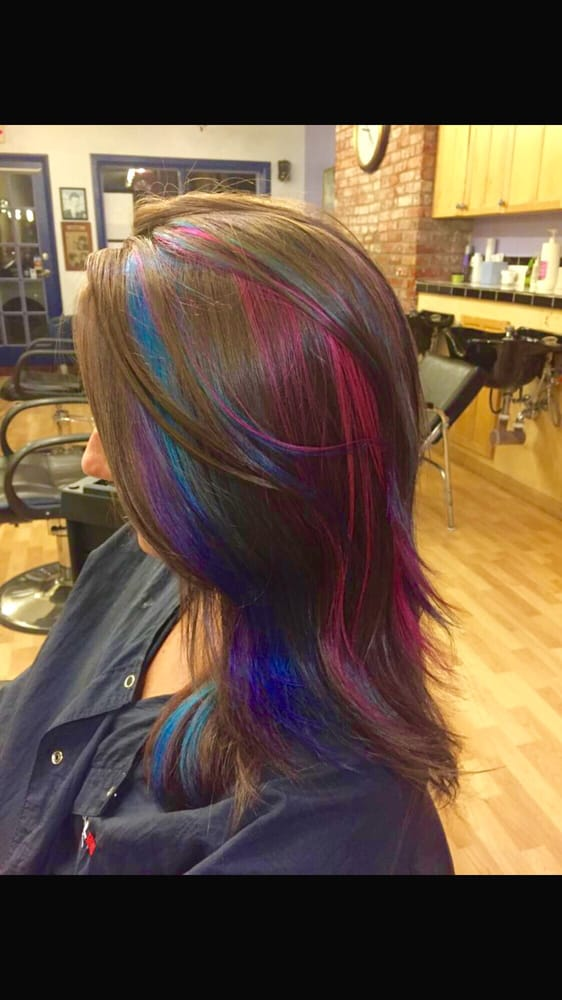 Amazing Hair Color By Caitlyn From Blonde To Brunette And Crazy