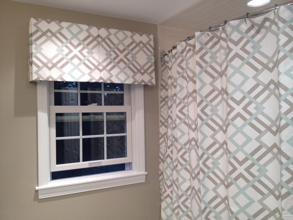 Box Pleated Valance With A Matching Shower Curtain Yelp
