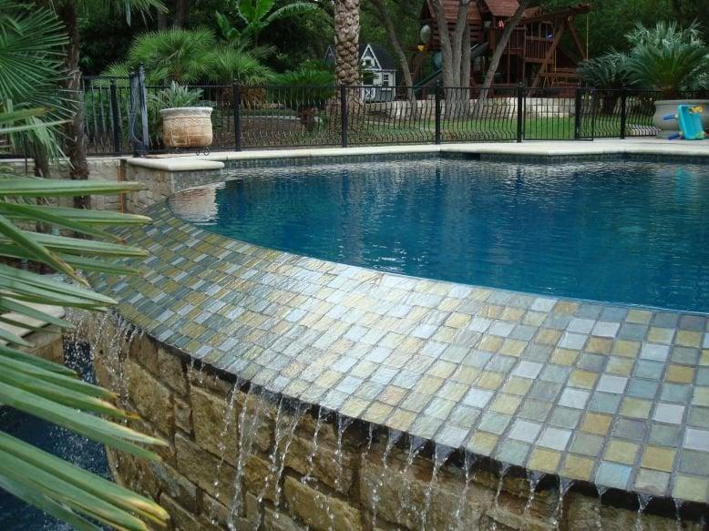 Swim Pure Pools Glass Tile Blue Quartz Remodel Yelp