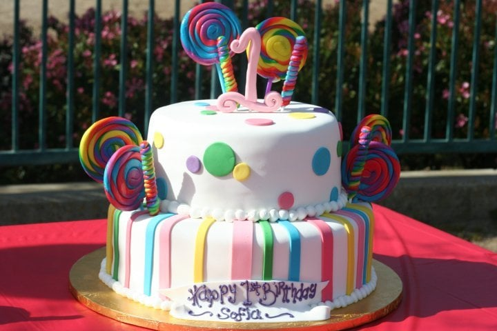 Candyland Themed 1st Birthday Cake Yelp