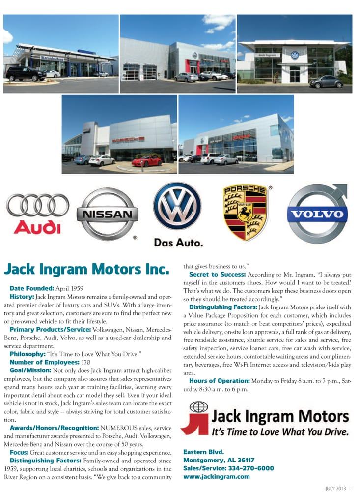 Jack Ingram Nissan >> Jack Ingram Motors Best Of Business In River Region Living