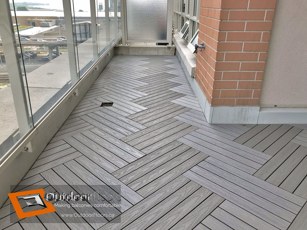 Photo Of Outdoor Floors Toronto On Canada Silver Wpc 2x1