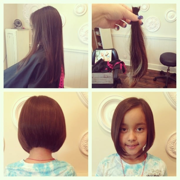 10 Year Old Kaitlyn Donated Her Hair To Locks Of Love Cut