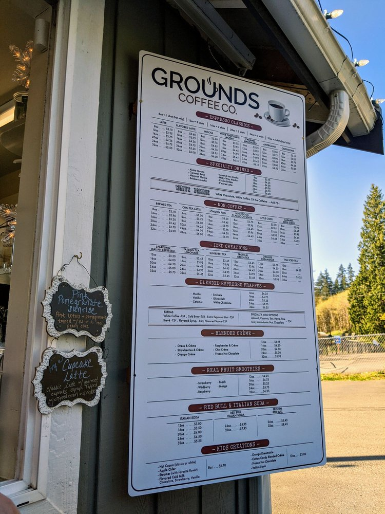Grounds Coffee Co: 16412 Broadway Ave, Snohomish, WA