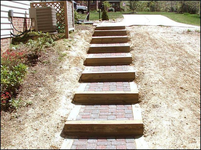brick steps with wood frame for better results - Yelp