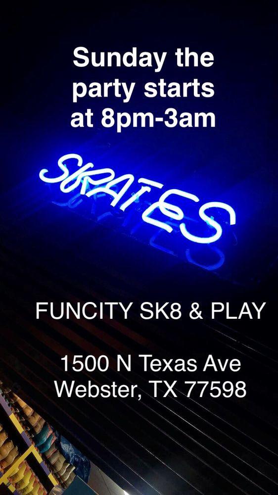 Funcity Sk8: 1500 N Texas Ave, Webster, TX