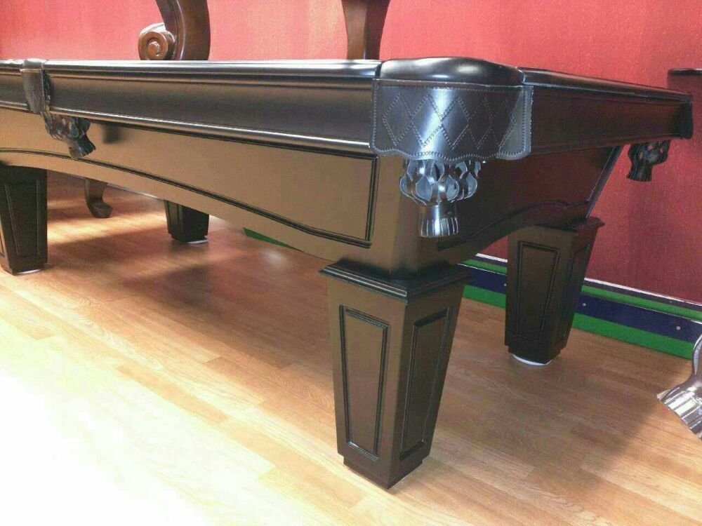 New Slate Pool Table In Black Finish With Slate Top By Imperial - Black top pool table