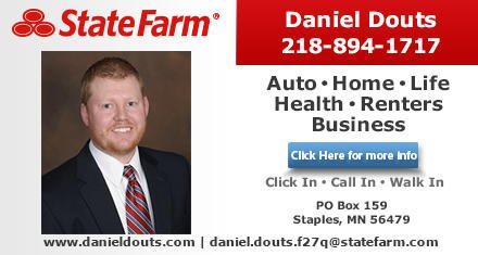 Daniel Douts - State Farm Insurance Agent: 812 4th St NE, Staples, MN
