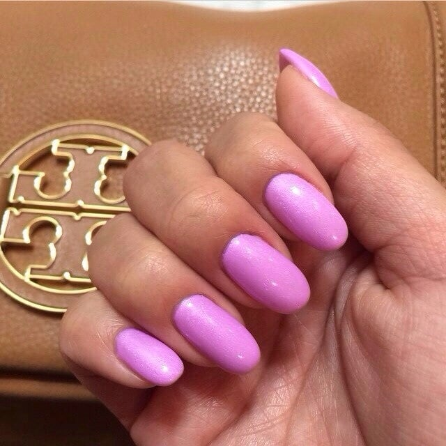 Purple Gel Toe Nails