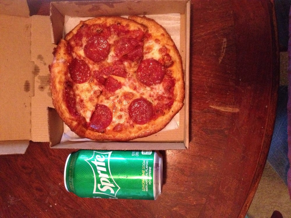 7 inch personal pizza can of soda for scale yelp