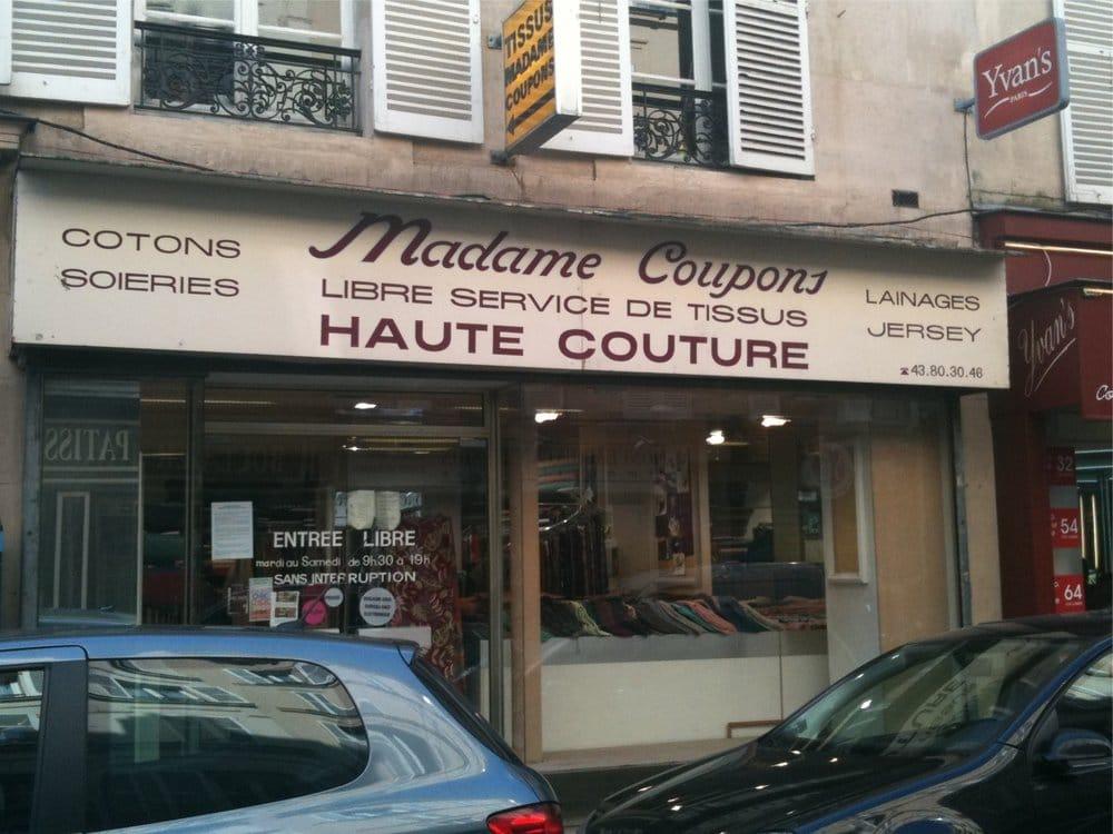 madame coupons magasin de tissus 71 rue l vis malesherbes villiers paris num ro de. Black Bedroom Furniture Sets. Home Design Ideas