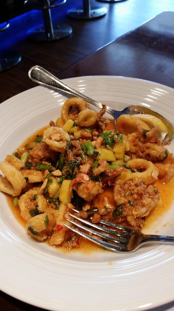 Thai calamari with pineapple cashews yelp for Fish restaurant naples