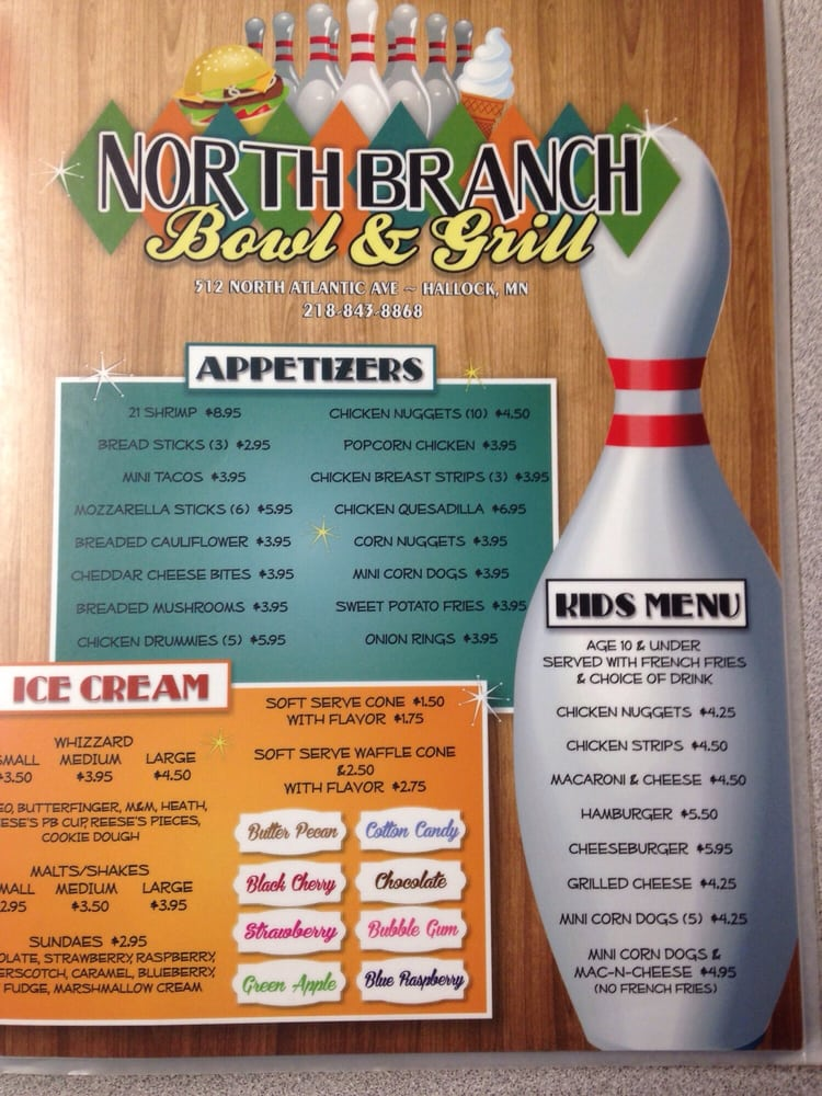 North Branch Bowl And Grill: 512 N Atlantic Ave, Hallock, MN