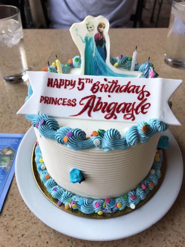 Beautiful Birthday Cake That The Restaurant Made For My Daughter Yelp