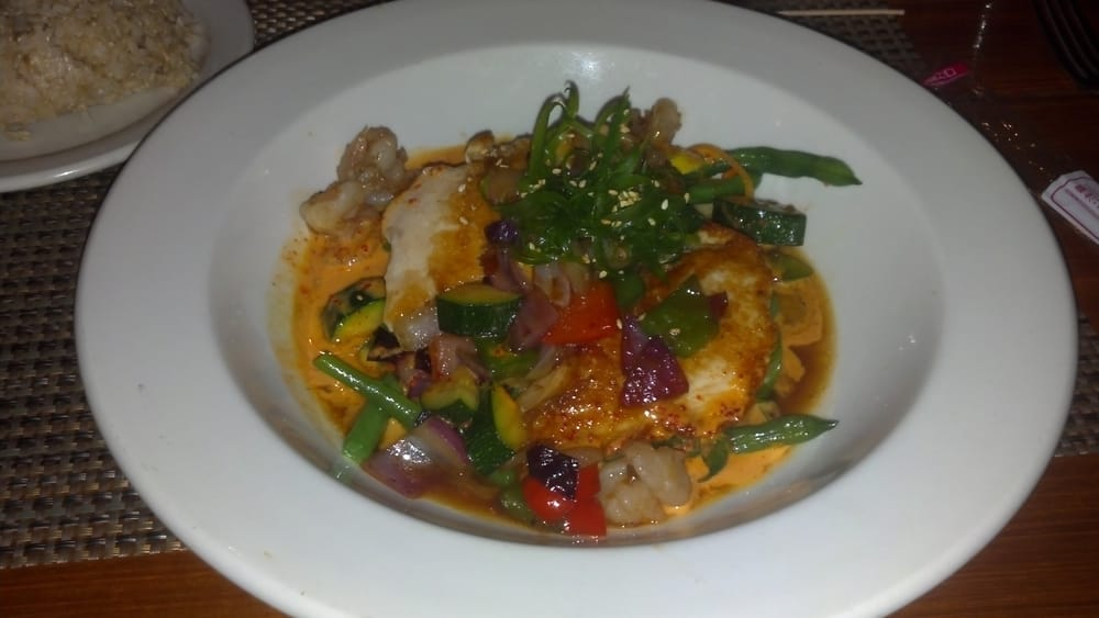 Pan seared opah with spicy szechuan shrimp yelp for Uncle s fish market and grill