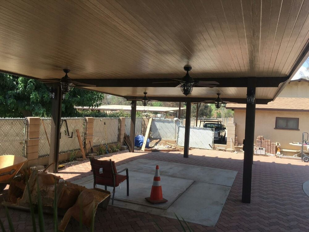 35x28 Solid Top Non Insulated Multi Span Patio Cover With