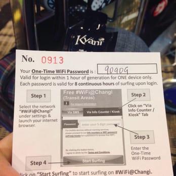 Wifi code in changi airport