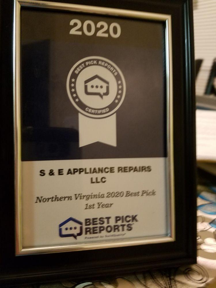 S & E Appliance Repair: Alexandria, VA