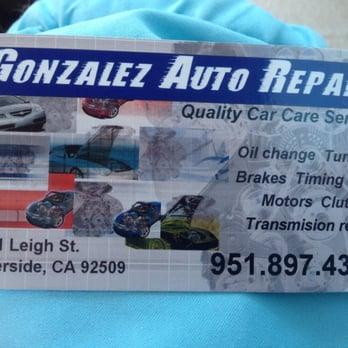 Gonzalez auto repair auto repair 4161 pyrite st riverside ca photo of gonzalez auto repair riverside ca united states new business card reheart Gallery