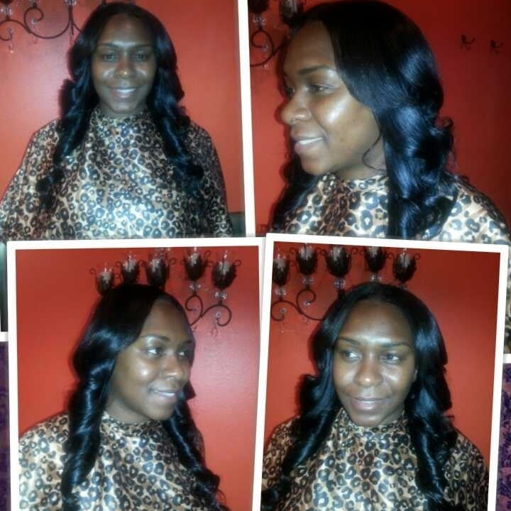 Full 18 Inch Sew In Weave With Boss Curls Yelp