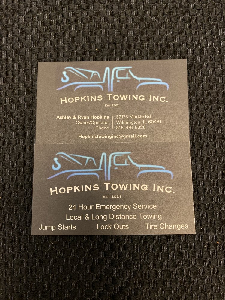 Hopkins Towing: 32173 Markle Rd, Wilmington, IL