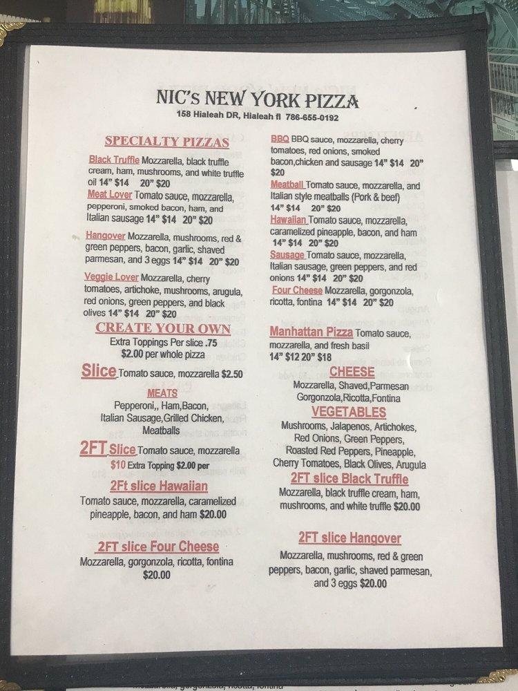 Nic's New York Pizza