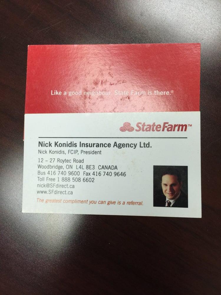 Business card yelp photo of nick konidis state farm insurance agent woodbridge on canada colourmoves