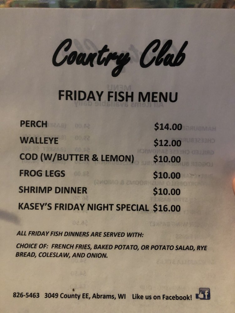 The Country Club: 3049 County Rd Ee, Abrams, WI