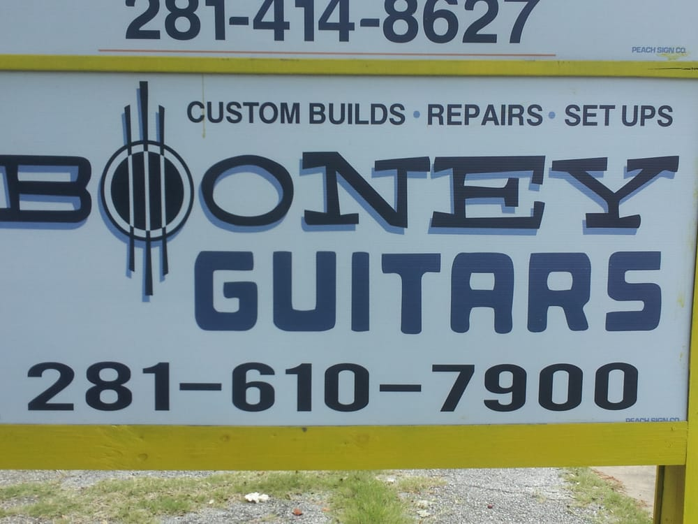 Booney Guitars: 151 Isaacks Rd, Humble, TX