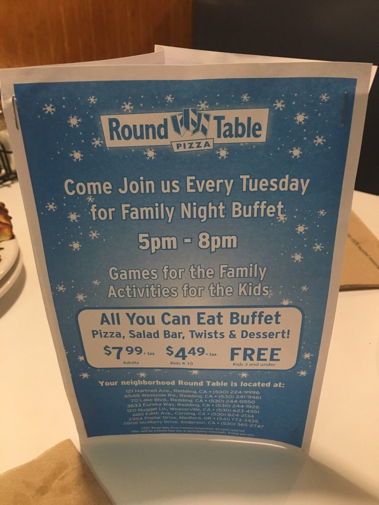 Round Table Family Night Buffet.Family Night Buffet 5pm 8pm Yelp