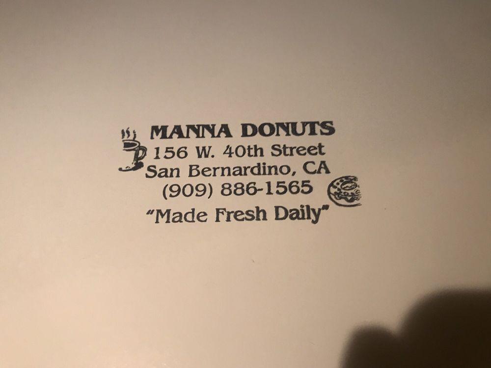 Manna Donuts: 156 W 40th St, San Bernardino, CA