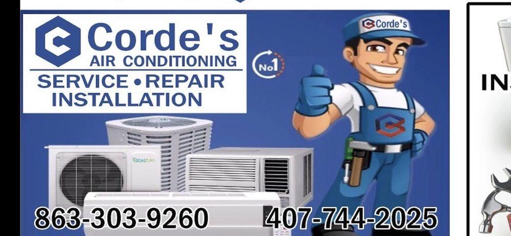 Corde's Air Service: 2163 S 30th St, Haines City, FL