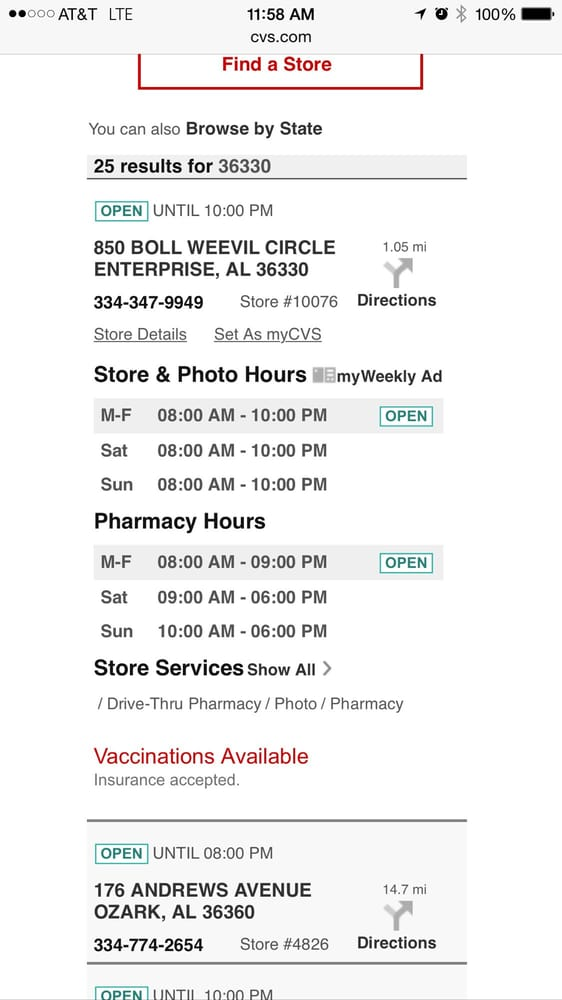 CVS Pharmacy - Drugstores - 850 Boll Weevil Cir, Enterprise