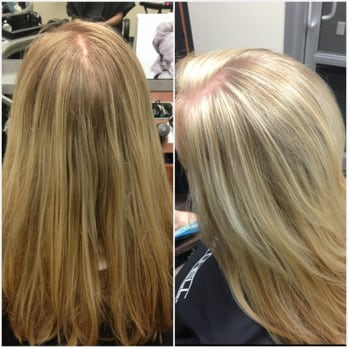 Golden Blonde To Frosty White Highlights Yelp