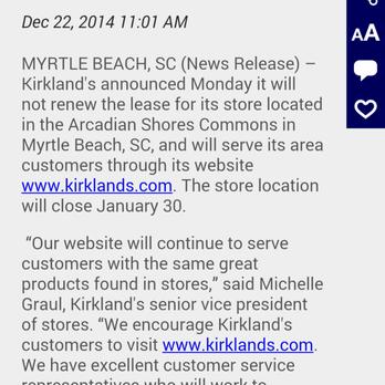 Kirklands Home Interior Design 10796 Kings Rd Myrtle Beach Sc United States Phone