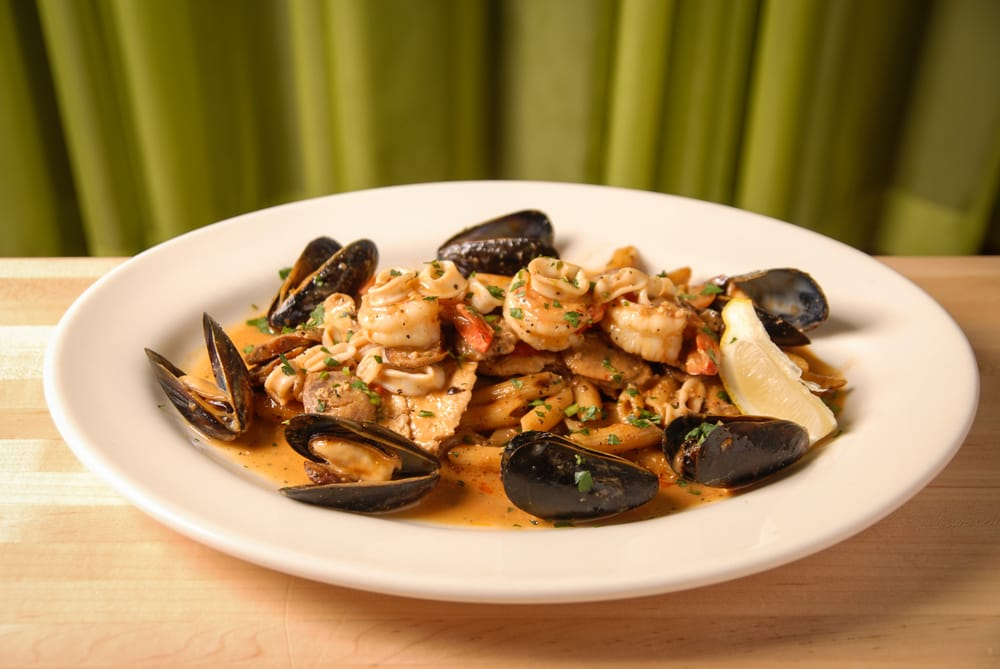Seafood Paella With Penne Pasta Tavola Trattoria Yelp