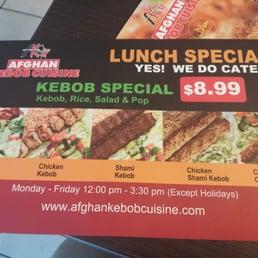 Photos for afghan kebob cuisine yelp for Afghan kebob cuisine menu