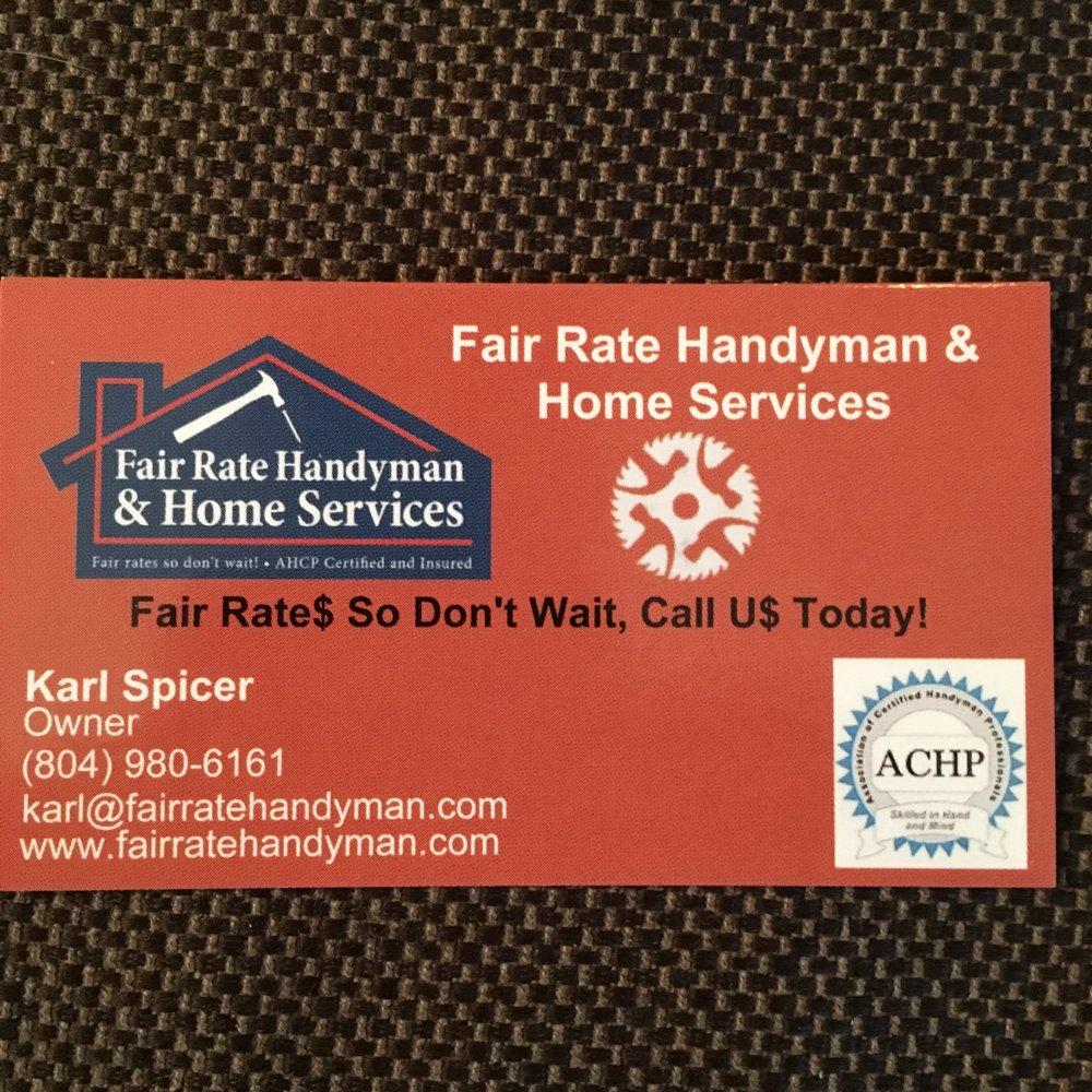 Fair Rate Handyman & Home Services: Gum Spring, VA