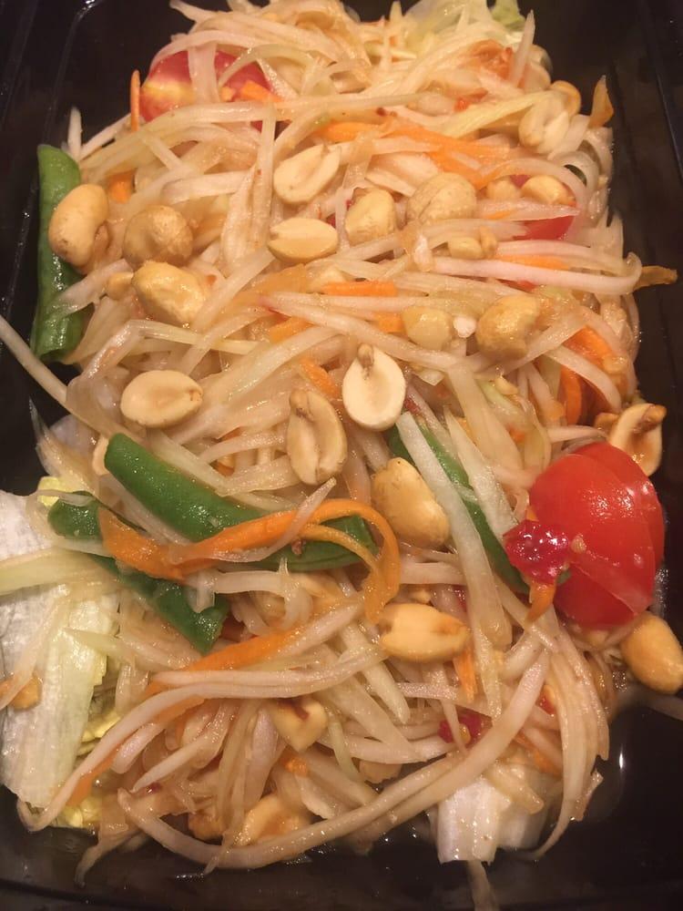 Thai Papaya Salad 7 95 Soooo Good With Yelp