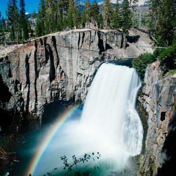 Photo of Devil's Postpile National Monument - Mammoth Lakes, CA, United  States. Rainbow