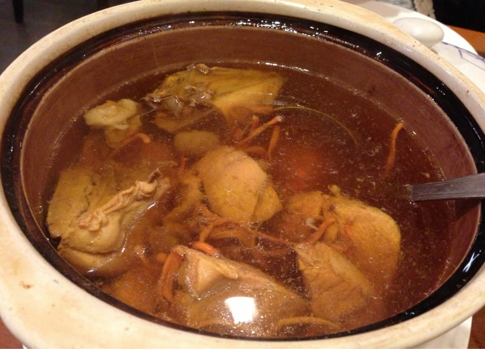 Thrice boiled chicken soup yelp for How long to boil a whole chicken for soup