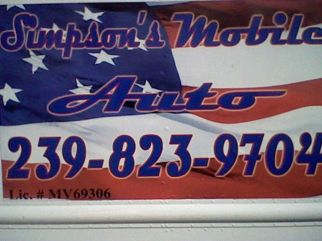 Simpsons mobile auto garages fort myers fl united for Grant motors fort myers