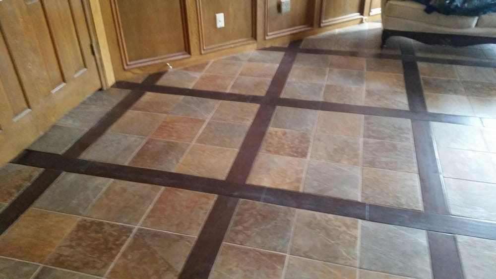 Grid Pattern With Wood And Tile Inlay Gorgeous Floor Yelp